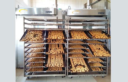 Thermo oil STATIC baking oven at Panitrans