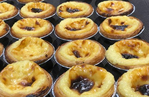 Test de cuisson de Pastel de Nata, a portugaise spécialité
