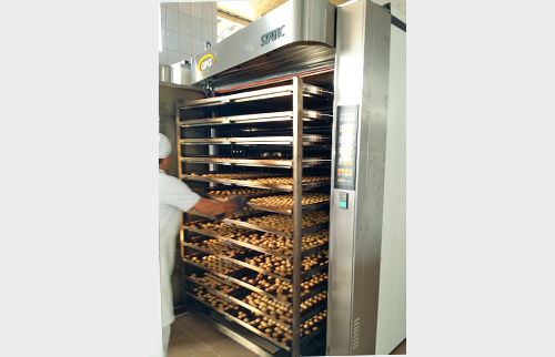 Thermo oil STATIC baking oven at Panitrans bakery