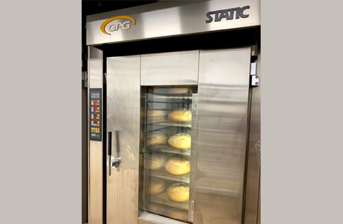 STATIC thermo oil rack baking oven
