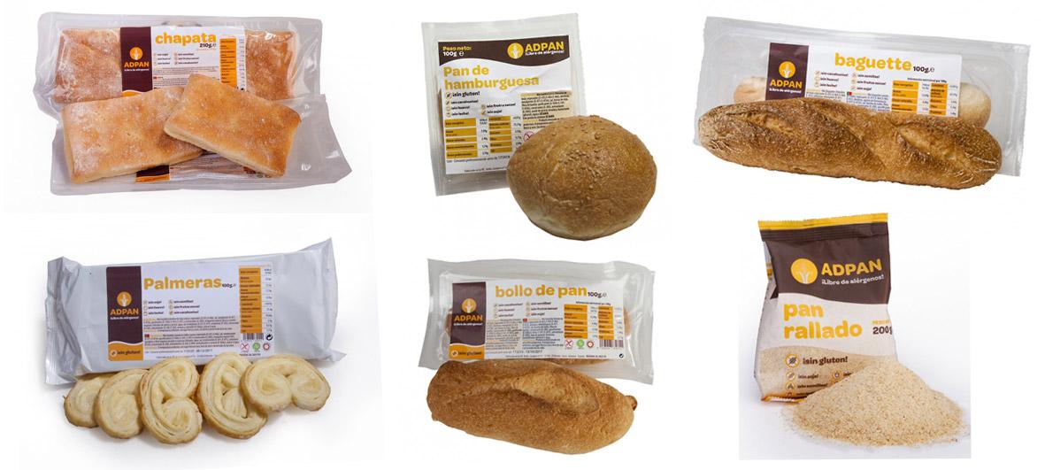 Adpan, productos sin gluten, horneados en un horno para panadería STATIC